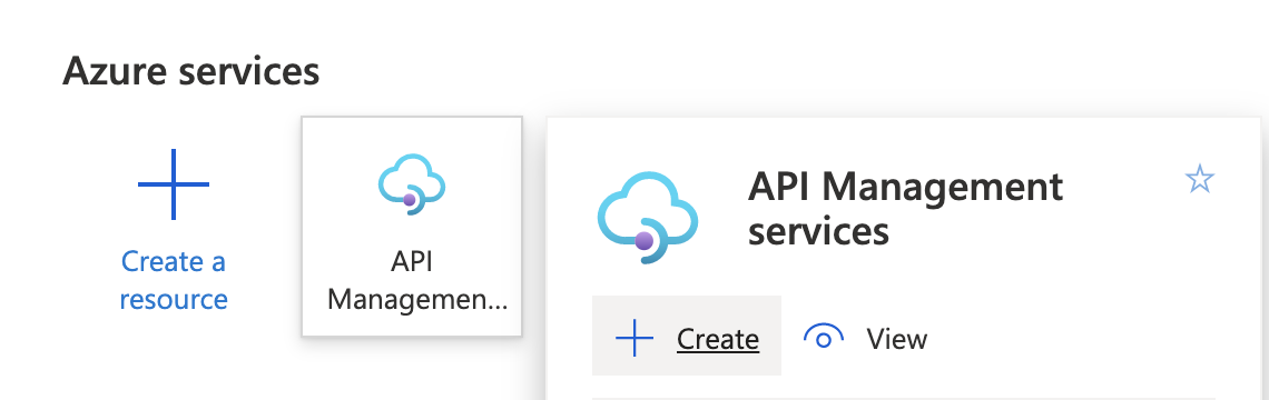 Create API Management Instance