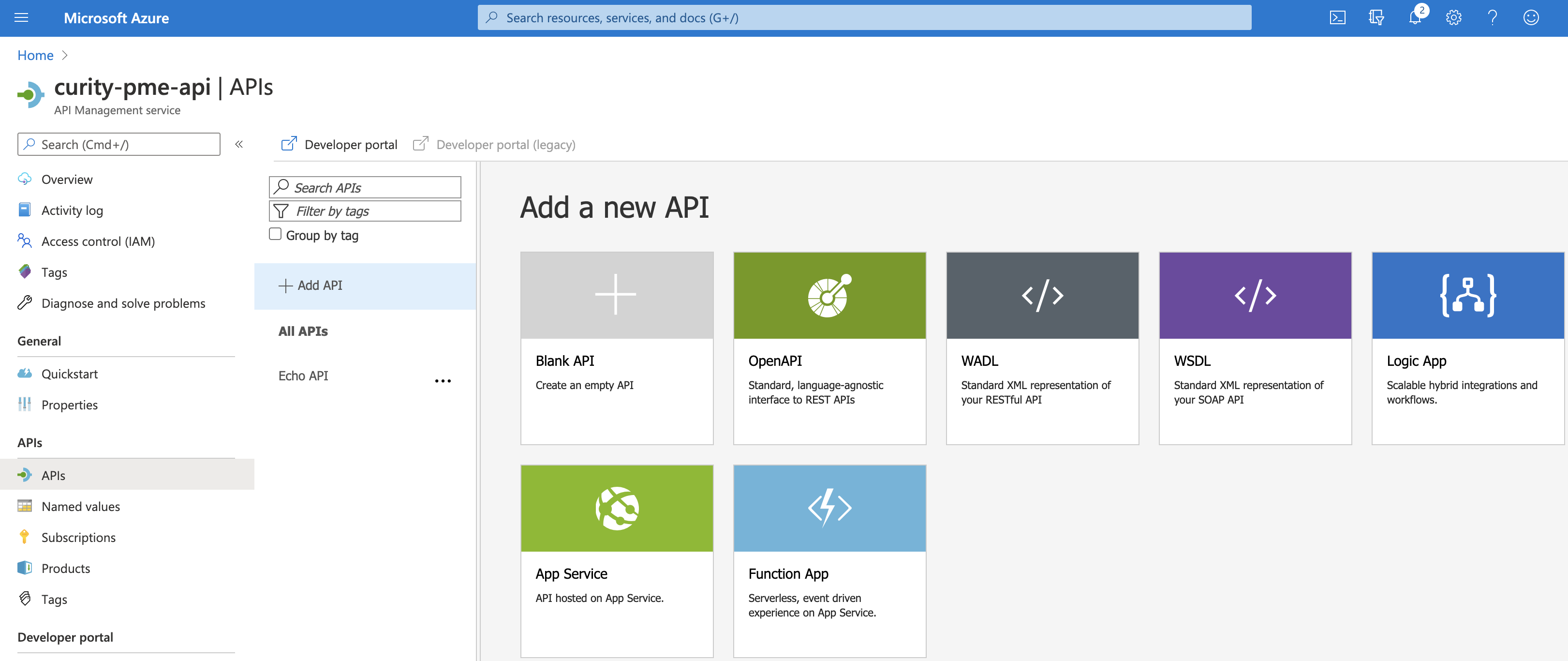 Add new API