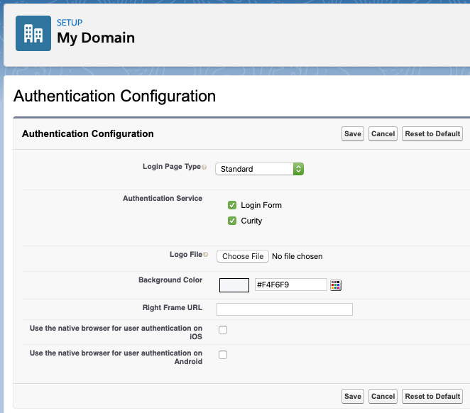Enable Auth. Provider for Domain